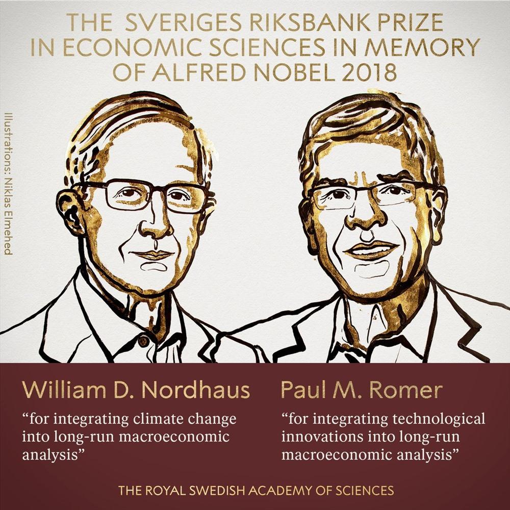 Nobel Kinh tế 2018 vinh danh 2 nhà kinh tế học người Mỹ Ảnh 1