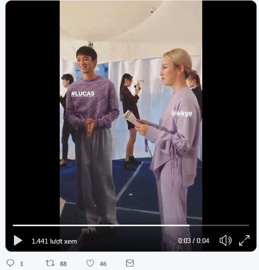 Dù bị mặc quần áo 'ngố tàu', Lucas (NCT) vẫn nổi bần bật trên sàn diễn catwalk chuyên nghiệp Ảnh 15