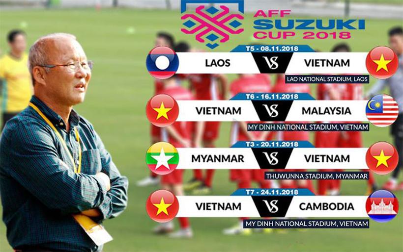 Lịch thi đấu AFF Cup 2018 và các đối thủ vòng bảng của tuyển Việt Nam Ảnh 1