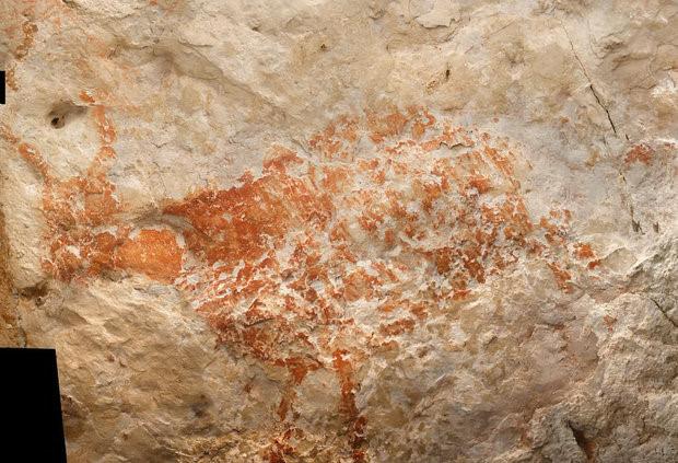 Phát hiện bức tranh cổ nhất sau 40.000 năm trên hang đá Ảnh 1