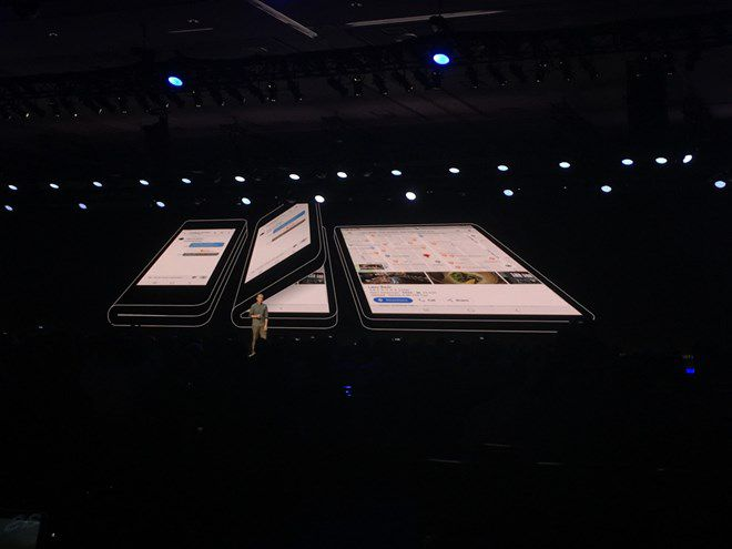Samsung chính thức giới thiệu mẫu điện thoại màn hình gập Ảnh 1