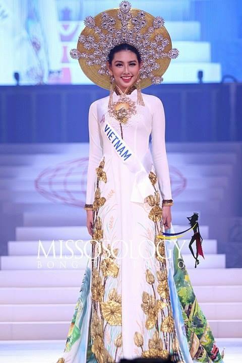 Nguyễn Thúc Thùy Tiên gặp 'sự cố' tại chung kết Hoa hậu Quốc tế 2018 Ảnh 1