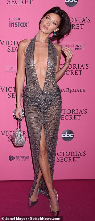 Bella Hadid diện mốt không nội y dự tiệc Victoria's Secret Show Ảnh 4
