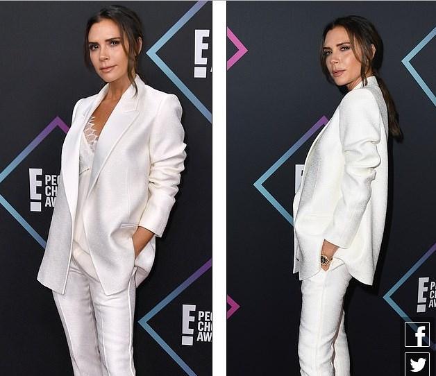 Victoria Beckham thanh lịch với vest trắng trên thảm đỏ sự kiện Ảnh 2