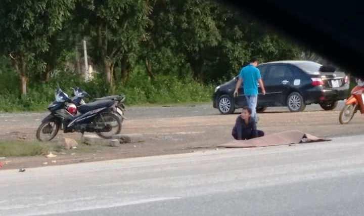 Va chạm với xe tải, người phụ nữ tử vong tại chỗ Ảnh 1