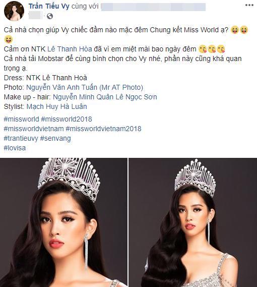 Bùi Phương Nga ra sức tư vấn trang phục dạ hội cho Tiểu Vy tại Miss World 2018 Ảnh 2