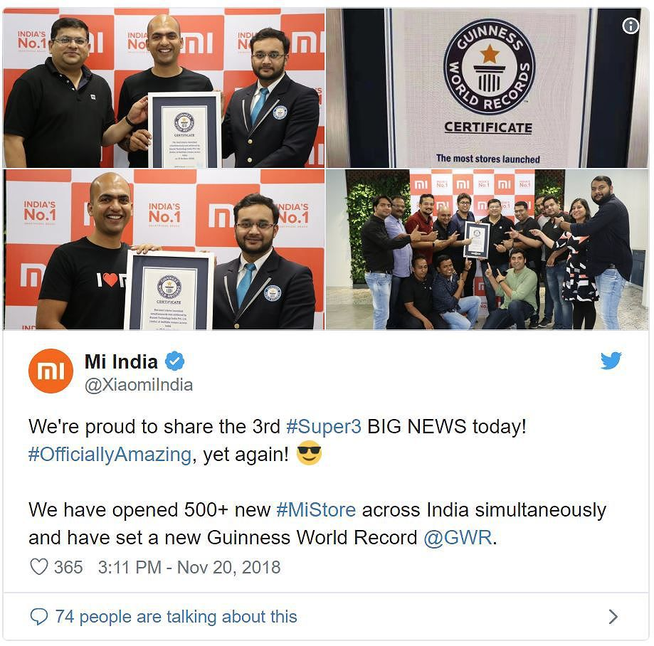 Xiaomi lập kỉ lục Guinness khi mở 1 lúc 500 Mi Store Ảnh 2