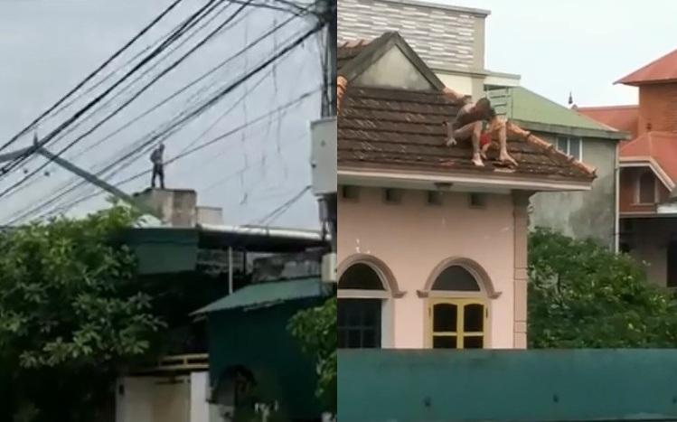 Xuất hiện 'Chí Phèo' ôm cháu bé hơn 1 tuổi thả từ mái nhà 2 tầng xuống đất còn liên tục la hét 'muốn làm người lương thiện' Ảnh 2