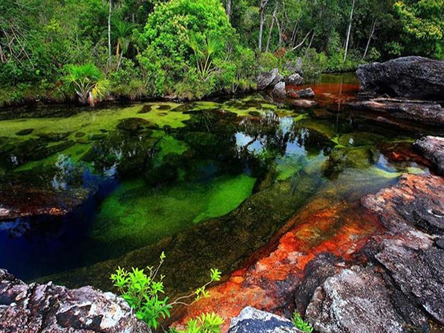 Khó tin nhưng có thật: Con sông có 5 màu sắc biến đổi theo mùa Ảnh 1