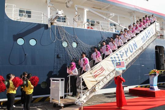 Tàu Nhật Bản chở 326 thanh niên ưu tú đến TP HCM Ảnh 6