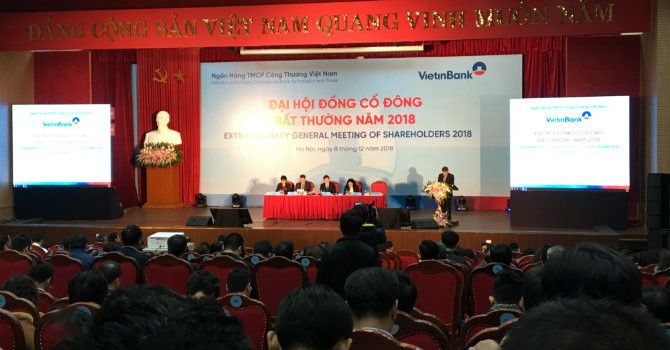 ĐHĐCĐ bất thường VietinBank: Đặt lại kế hoạch lợi nhuận năm 2018 đạt 6.700 tỷ đồng Ảnh 1