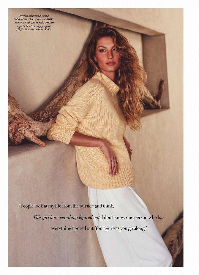Siêu mẫu đắt giá Gisele Bundchen khoe dáng tuyệt mỹ trên tạp chí Ảnh 9