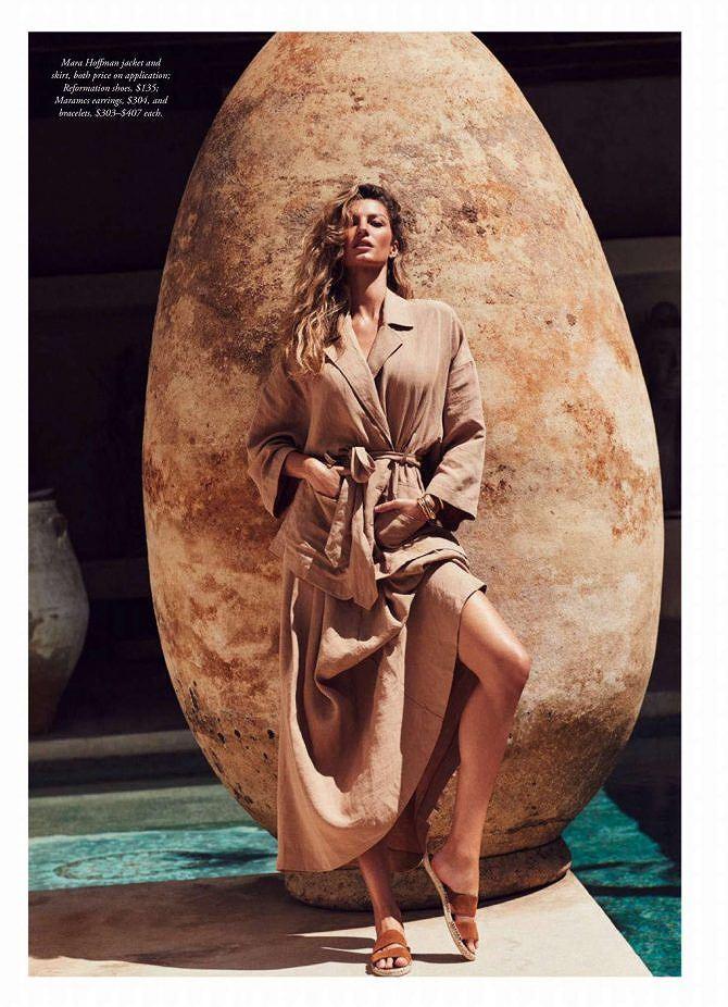 Siêu mẫu đắt giá Gisele Bundchen khoe dáng tuyệt mỹ trên tạp chí Ảnh 6