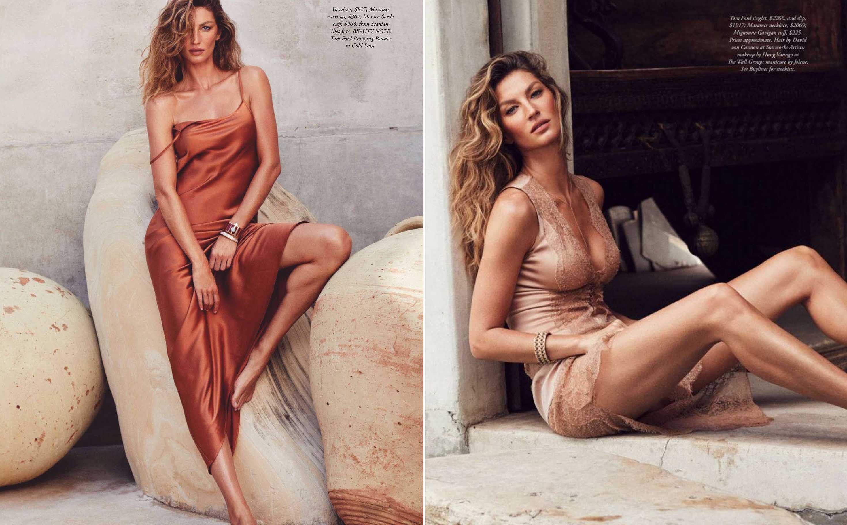 Siêu mẫu đắt giá Gisele Bundchen khoe dáng tuyệt mỹ trên tạp chí Ảnh 1