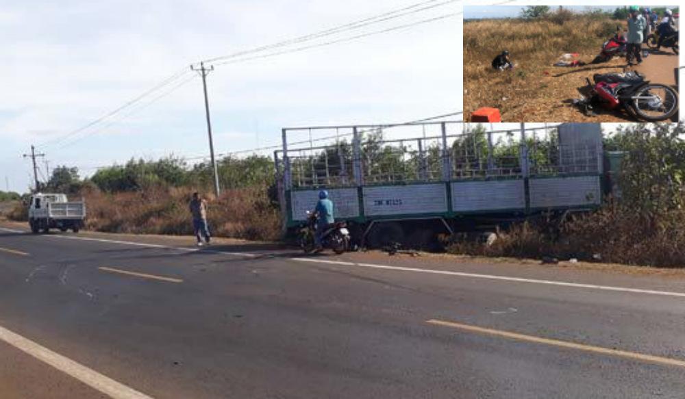 Vụ xe tải tông chết 3 người: Cô dâu dang dở ngày cưới... Ảnh 1