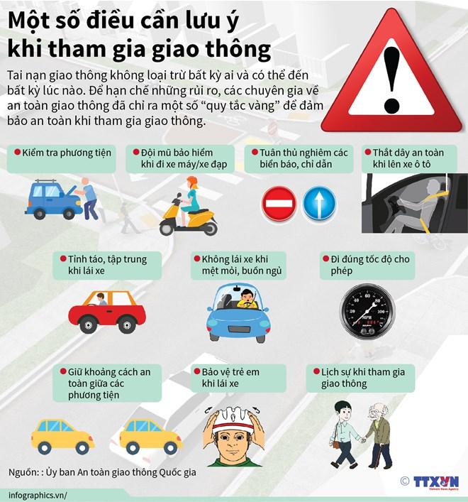 Một số điều cần lưu ý khi tham gia giao thông Ảnh 1