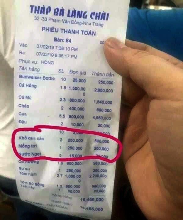 Nhiều nhà hàng tại Nha Trang bị tố 'chặt chém' dịp Tết Ảnh 3