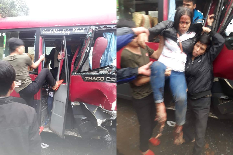 Xe khách 24 chỗ đâm trực diện xe tải, ít nhất 5 người bị thương Ảnh 6