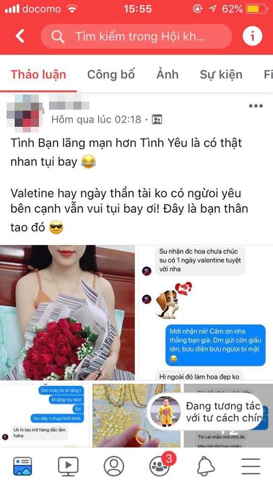 Khoe Valentine chẳng cần người yêu vì có anh bạn thân tặng hoa và nhẫn, cô gái nhận về toàn phản ứng trái chiều Ảnh 1
