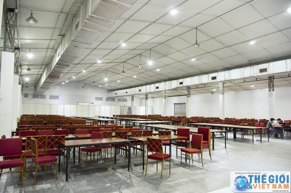 Trung tâm Báo chí quốc tế tất bật chuẩn bị trước thềm Hội nghị thượng đỉnh Mỹ - Triều Ảnh 13