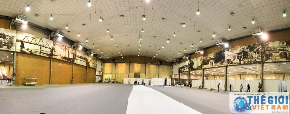 Trung tâm Báo chí quốc tế tất bật chuẩn bị trước thềm Hội nghị thượng đỉnh Mỹ - Triều Ảnh 5