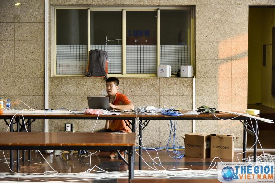 Trung tâm Báo chí quốc tế tất bật chuẩn bị trước thềm Hội nghị thượng đỉnh Mỹ - Triều Ảnh 11