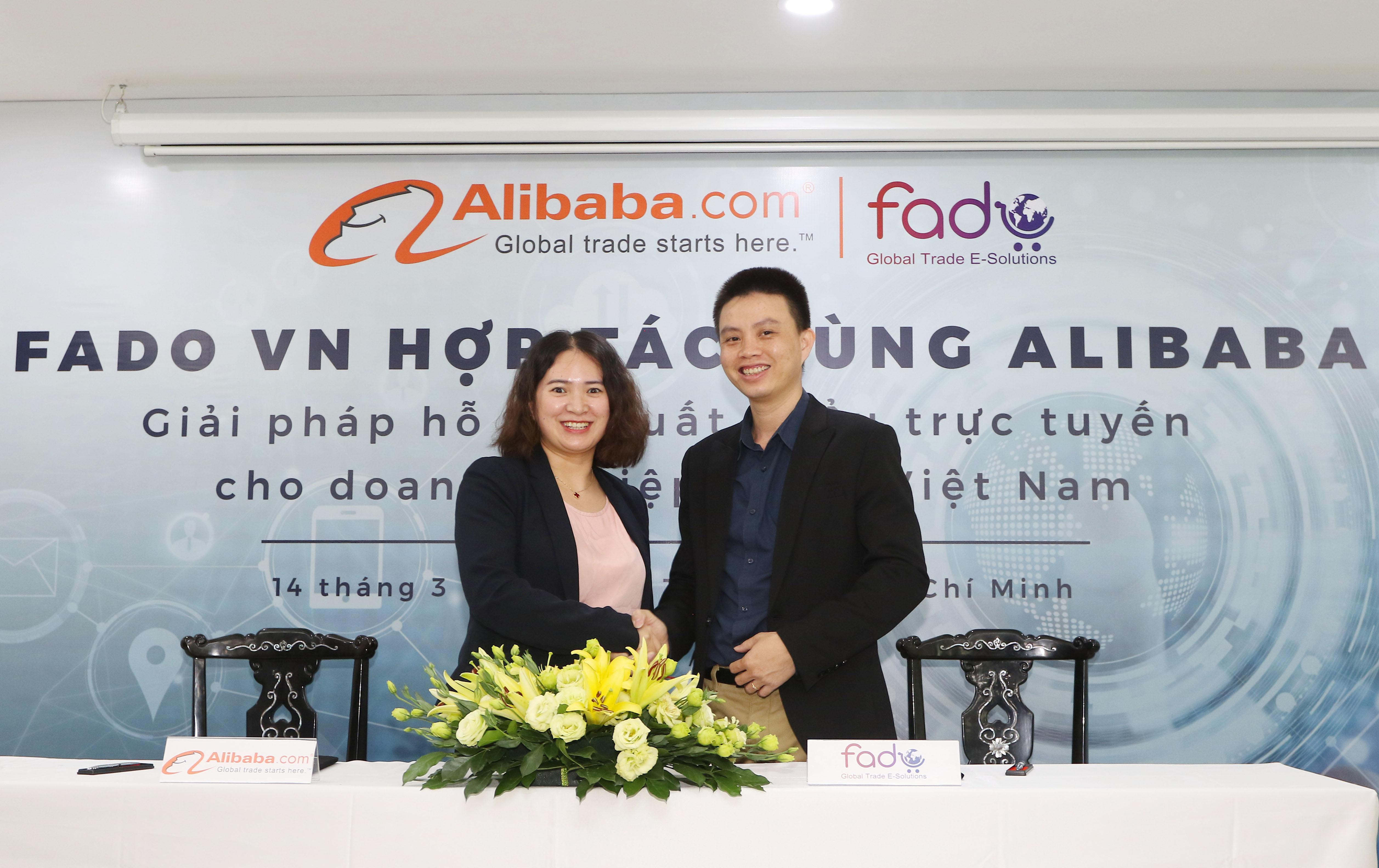 Công bố hợp tác giữa Alibaba.com và Fado.vn Ảnh 1