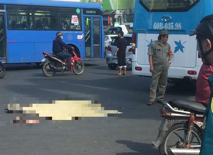 Xe khách cán chết người phụ nữ giữa vòng xoay Sài Gòn Ảnh 2