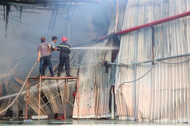 Bình Dương: Đang cháy lớn tại Khu công nghiệp Mỹ Phước 2 Ảnh 1