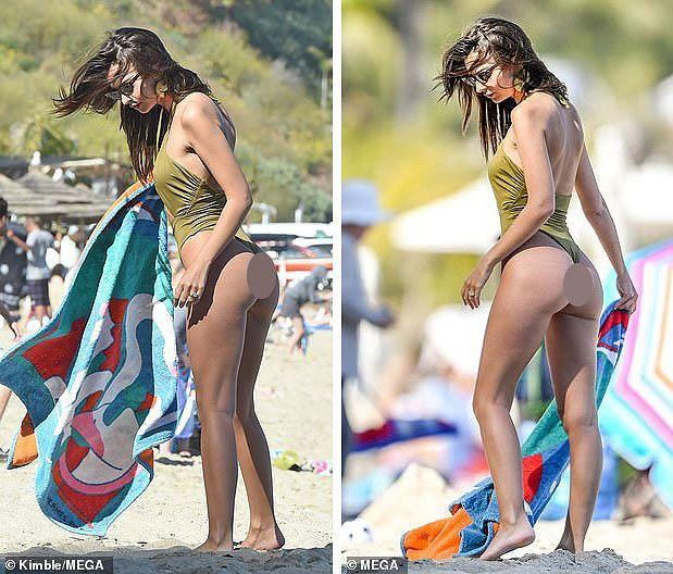 Siêu mẫu Emily Ratajkowski khoe đường cong hút mắt trên bãi biển Ảnh 2