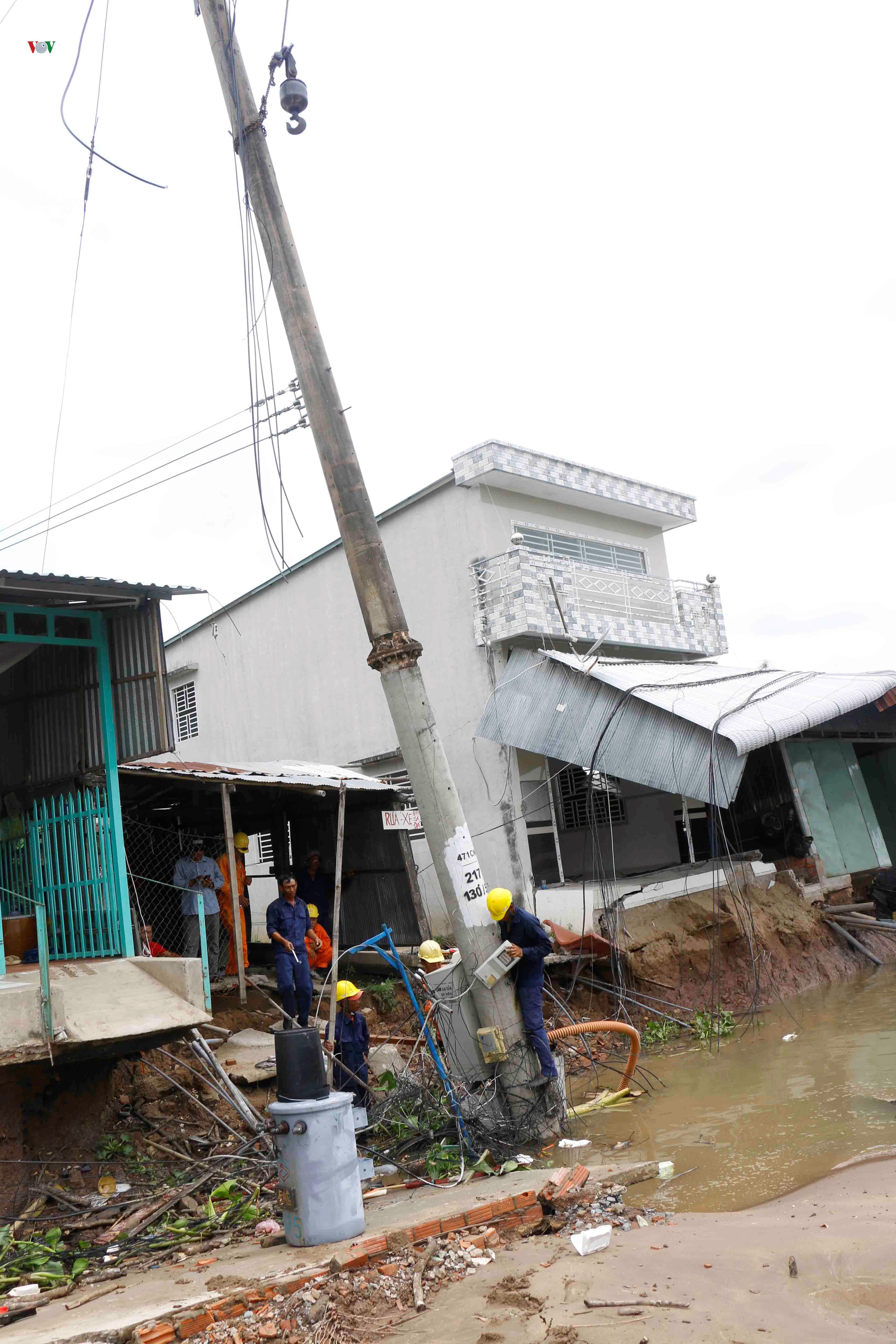 Sạt lở khiến 11 căn nhà ven sông Ô Môn, Cần Thơ bị ảnh hưởng Ảnh 2