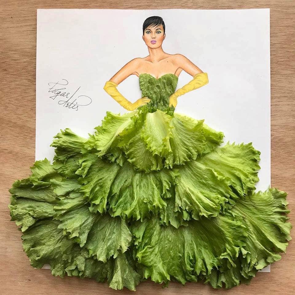 Những tuyệt tác váy dạ hội từ tâm hồn ăn uống nhất hệ mặt trời, fan yêu cầu hãy làm ngay bộ 'chè đậu' cho Hoàng Thùy Ảnh 3