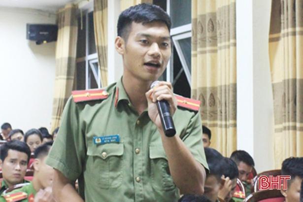 Hơn 70 chiến sỹ Công an Thạch Hà tình nguyện về xã Ảnh 2