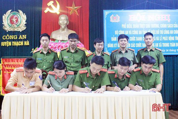 Hơn 70 chiến sỹ Công an Thạch Hà tình nguyện về xã Ảnh 1