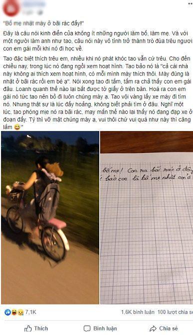 Bị trêu đùa 'Bố mẹ nhặt ở bãi rác', bé gái viết tâm thư rồi bỏ nhà ra bãi rác… tìm cha mẹ ruột của mình Ảnh 1