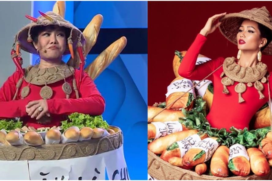 Việt Hương hiện trang phục bánh mì, hóa 'H'Hen Niê phiên bản lỗi' nhí nhảnh trên truyền hình Ảnh 1