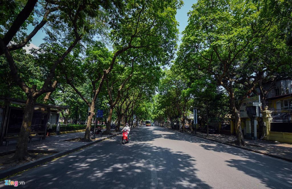 Những tuyến phố chống oi bức ngày nóng 40 độ C ở Hà Nội Ảnh 2
