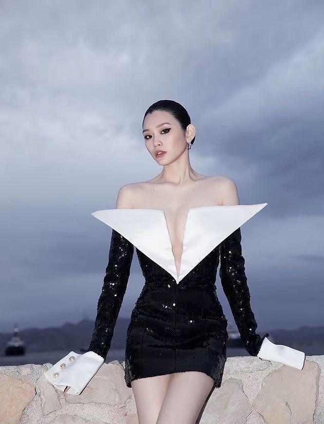 Bạn gái con trai 'vua sòng bạc Macau' khoe ngực đầy, eo thon trên thảm đỏ Cannes Ảnh 8