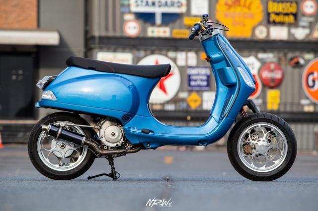 Xe Vespa độ phong cách không giống ai, mất luôn chất Ý lịch lãm Ảnh 1