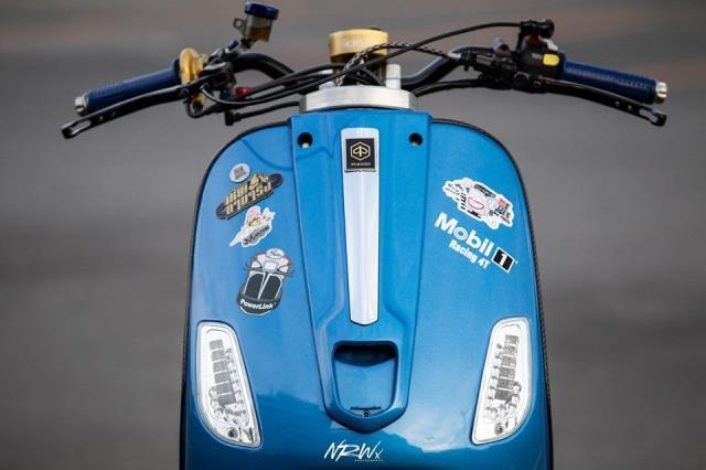 Xe Vespa độ phong cách không giống ai, mất luôn chất Ý lịch lãm Ảnh 2