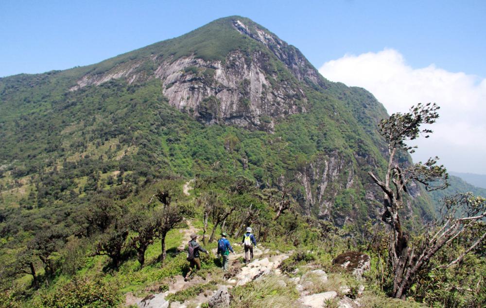 Xem dân văn phòng chinh phục đỉnh Ky Quan San ở độ cao 3046m Ảnh 1