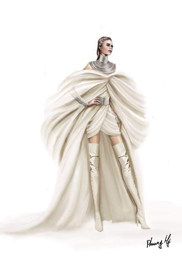 Diva Beyonce hóa thân thành nữ thần trong thiết kế của NTK Phương My Ảnh 4