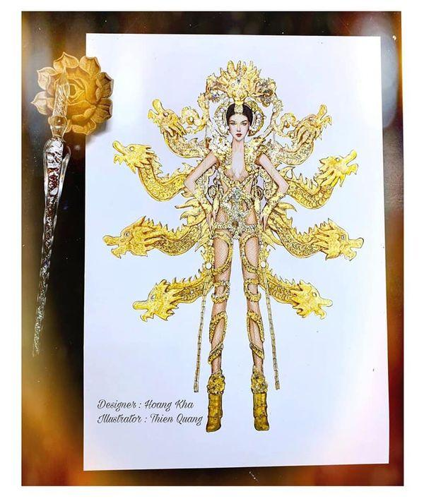 'Mắt tròn mắt dẹt' với mẫu National Costume 'chín rồng' phiên bản búp bê y như thật Ảnh 2