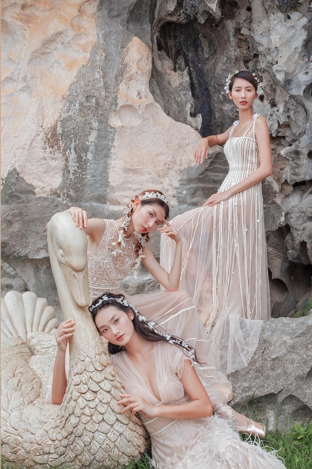 Thùy Dương, Hằng Nguyễn, Quỳnh Anh khoe dáng gợi cảm dù không hở bạo Ảnh 2