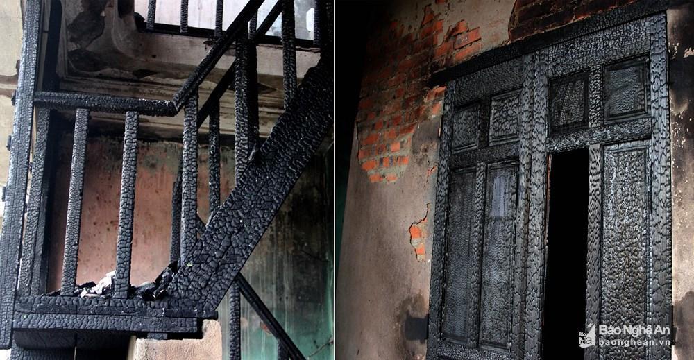 Ngôi nhà tan hoang, đen nhẻm sau vụ cháy tại đường Trần Phú (TP.Vinh) Ảnh 5