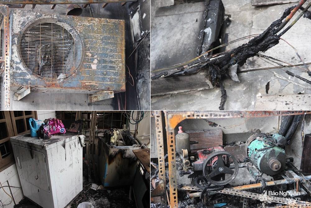 Ngôi nhà tan hoang, đen nhẻm sau vụ cháy tại đường Trần Phú (TP.Vinh) Ảnh 4