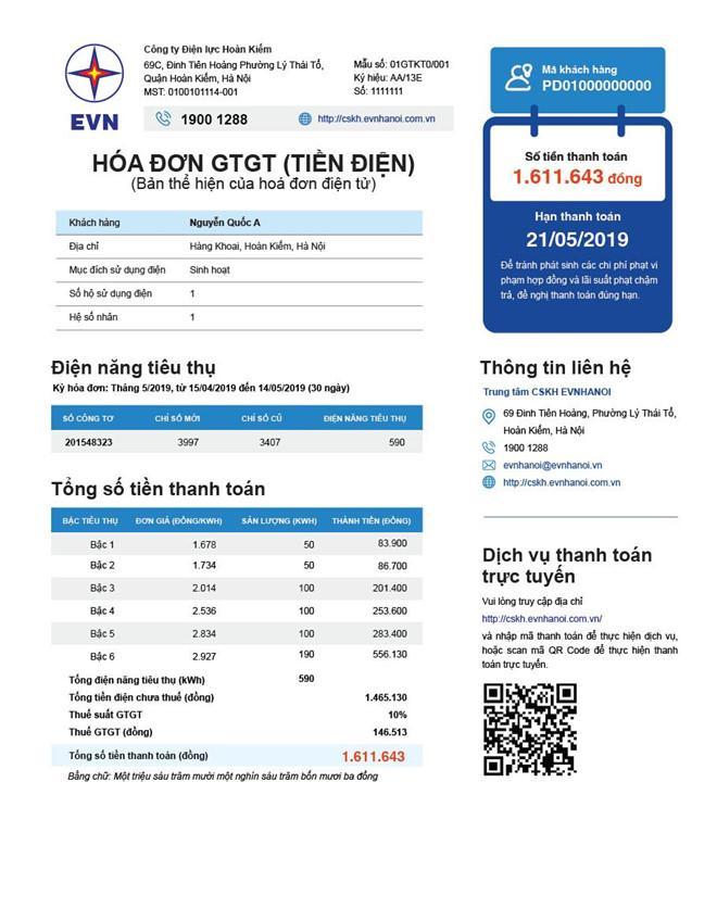 Từ tháng 9, hóa đơn điện sẽ ghi rõ số tiền phải trả ở từng bậc giá Ảnh 1