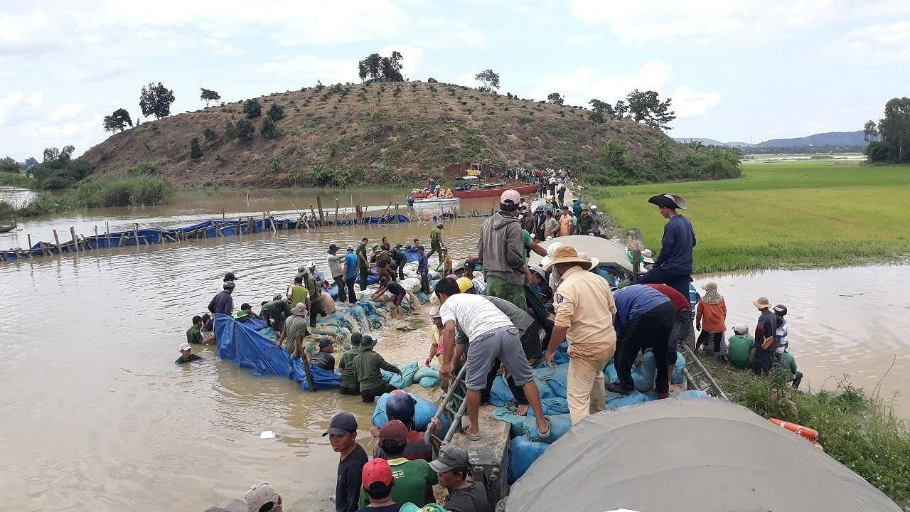 Vỡ đê, hàng trăm người dân trầm mình cứu đồng lúa Ảnh 7