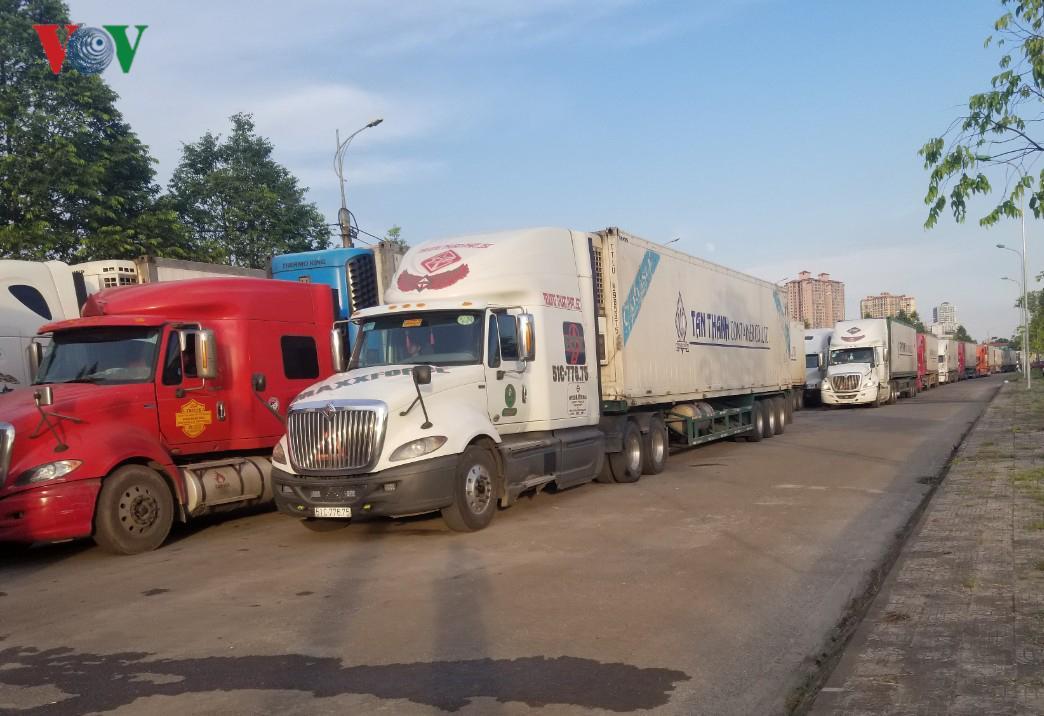 Ùn ứ hàng trăm xe chở thanh long tại cửa khẩu ở Lào Cai Ảnh 1