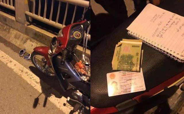Thiếu nữ 18 tuổi bỏ lại xe máy trên cầu Vĩnh Tuy, nhảy xuống sông Hồng Ảnh 1